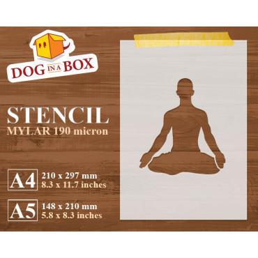 Yoga stencil n.1 - Reusable...