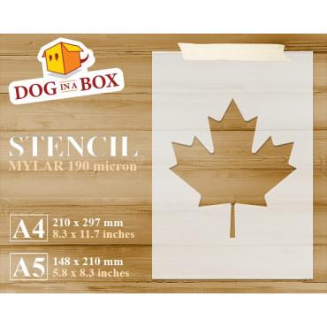 Canada flag stencil - Maple...