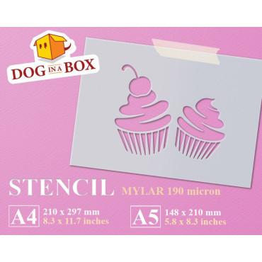 Cupcakes stencil n.1 -...