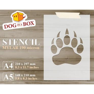 Bear pawprint stencil -...