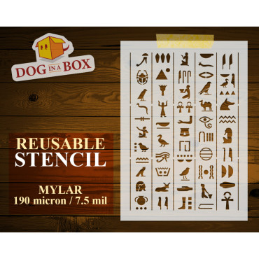 Hieroglyphs stencil n.3 -...