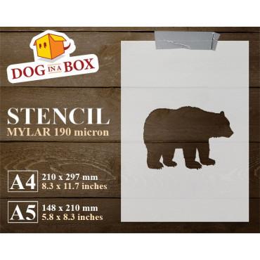 Bear stencil n.1 - Reusable...