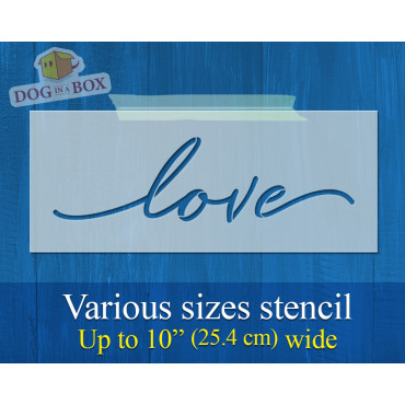 Love stencil - Reusable...