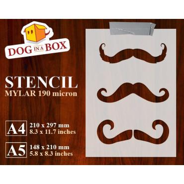 Mustaches stencil n.1 -...