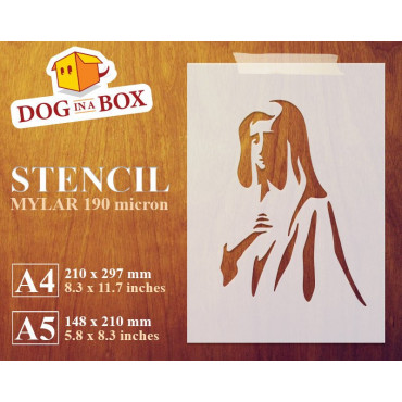 Mary stencil n.2 - Reusable...