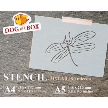 Fossil Dragonfly stencil -...