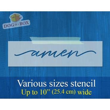 Amen stencil - Reusable...