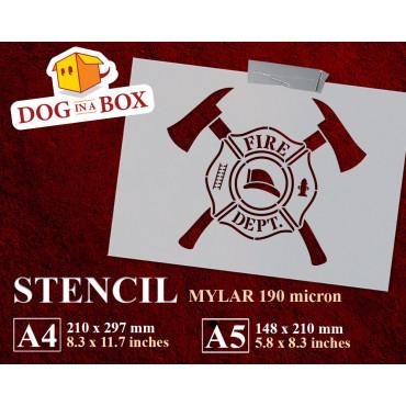 Firefighters Emblem stencil...