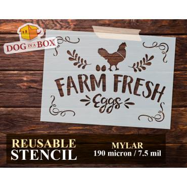 Farm Fresh Eggs stencil n.3...