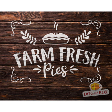 Remarkable Farm Fresh Pies Stencil N 2 Reusable Farm Stencil For Wood Signs Funny Birthday Cards Online Inifodamsfinfo