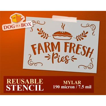 Farm Fresh Pies stencil n.2...
