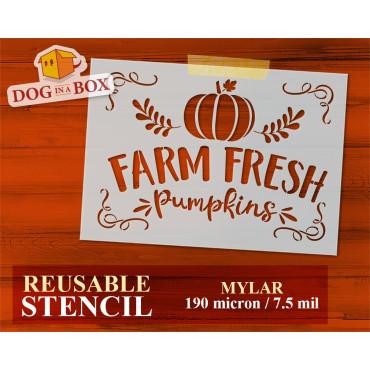 Farm Fresh Pumpkins stencil...