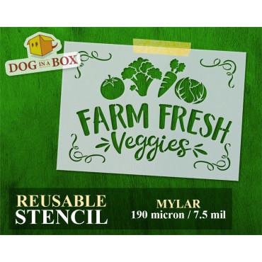 Farm Fresh Veggies stencil...