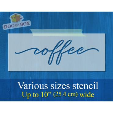 Coffee stencil - Reusable...