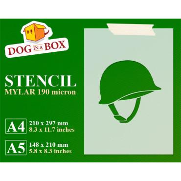 Soldier helmet stencil -...
