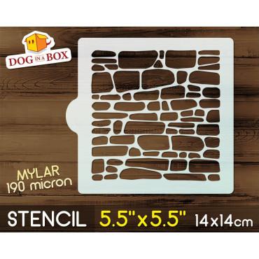 """Bricks stencil - 5.5"""" x..."""