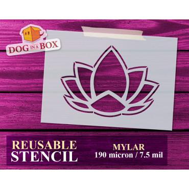Lotus flower stencil n.3 -...