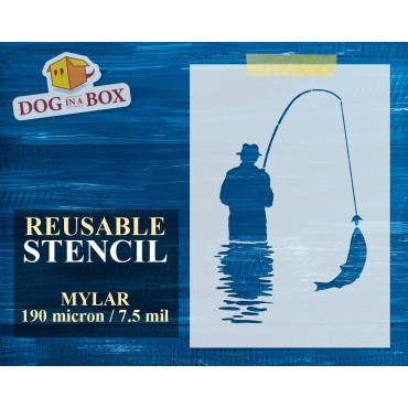 Fishing stencil n.3 -...