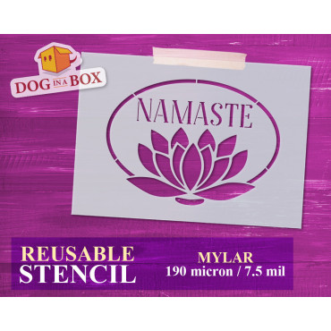 Namaste stencil n.3 -...
