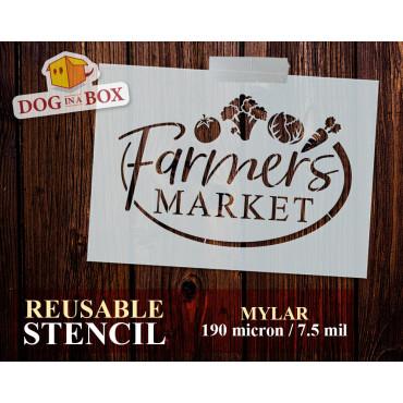 Farmers Market stencil n.1...