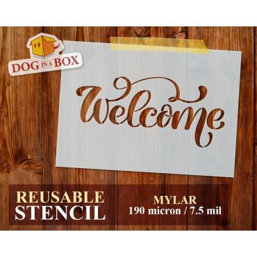 Welcome stencil n.4 -...