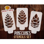 Pinecones stencils - Set of...