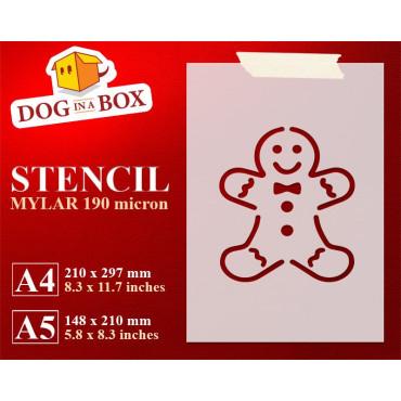 Gingerbread man stencil -...