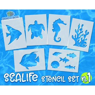 Sealife stencils set n.1 -...