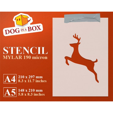 Christmas reindeer stencil...