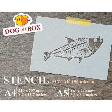 Fossil Fish stencil -...