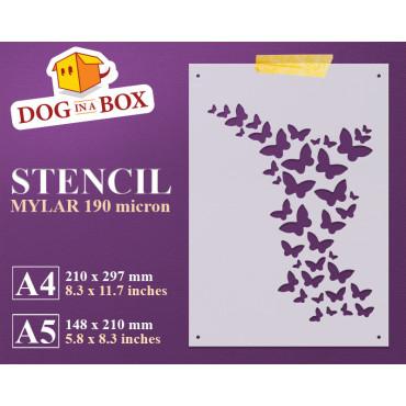 Butterflies stencil n.2 -...