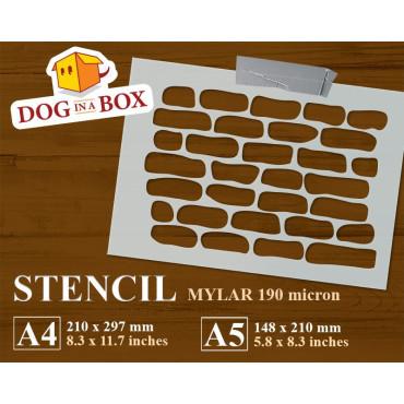 Bricks stencil n.3 -...