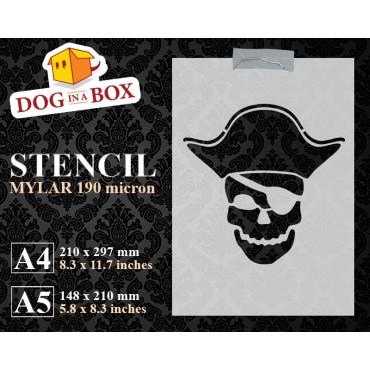 Pirate stencil n.5 - Skull...