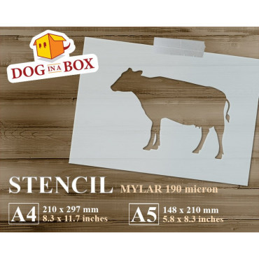 Cow stencil - Reusable farm...