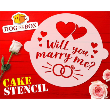Will you marry me cake...