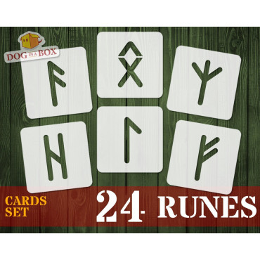 Runes stencils cards n.1 -...