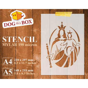 Mary and Jesus stencil -...