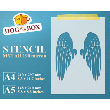 Angel wings stencil n.2, -...