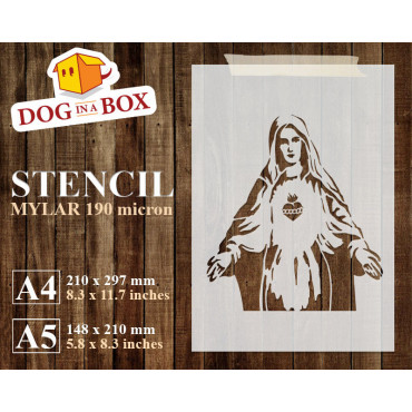Mary stencil n.1 - Reusable...