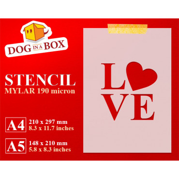 Love stencil - Reusable...