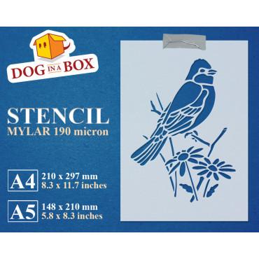 Bird decor stencil n.5 -...