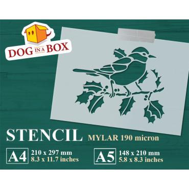 Bird decor stencil n.1 -...