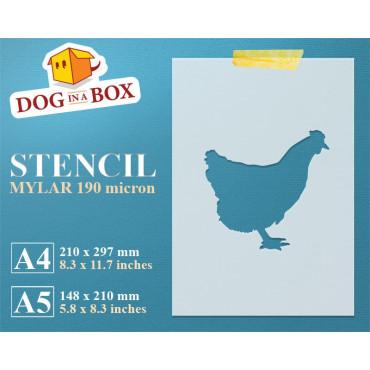 Chicken stencil - Reusable...