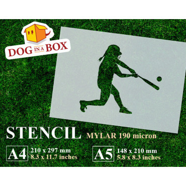 Softball stencil n.4 -...