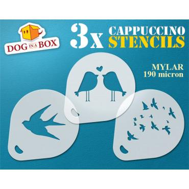 Birds stencil (set of 3)...
