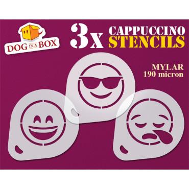Emoticons Stencils (set of...