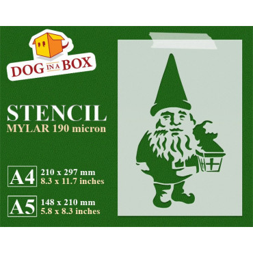 Gnome stencil - Reusable...