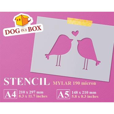 Love birds stencil n.1 -...