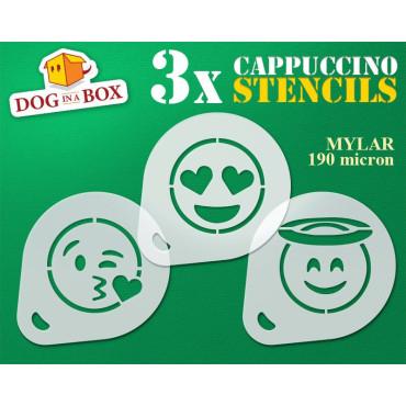 Emoticons stencils n.1 (set...