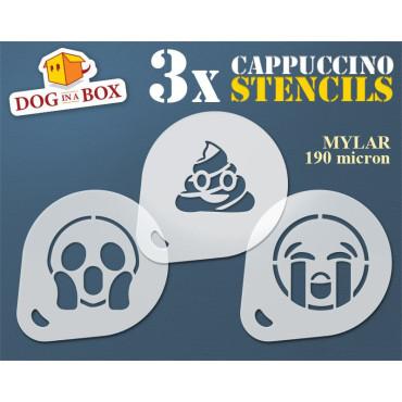 Emoticons stencils n.3 (set...